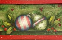 MIXED MEDIA CHRISTMAS ORNAMENT TRAY